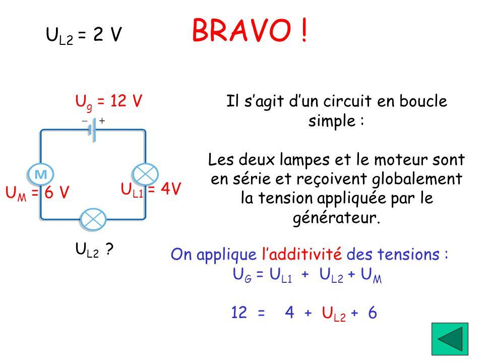 UL2 = 2 V BRAVO ! Ug = 12 V UM = 6 V UL1 = 4V UL2