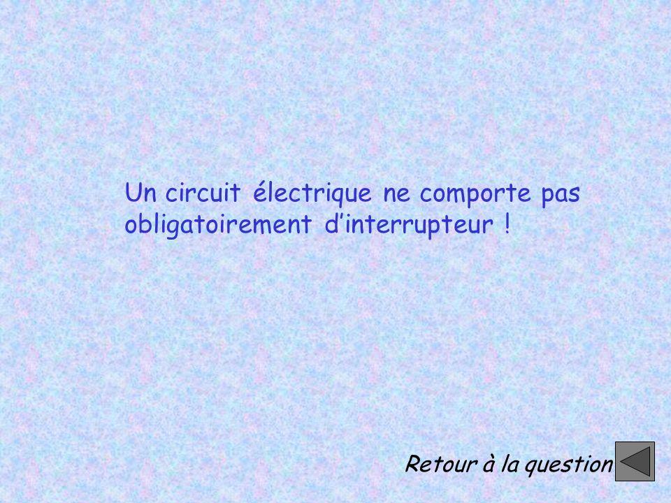 Un circuit électrique ne comporte pas obligatoirement d'interrupteur !