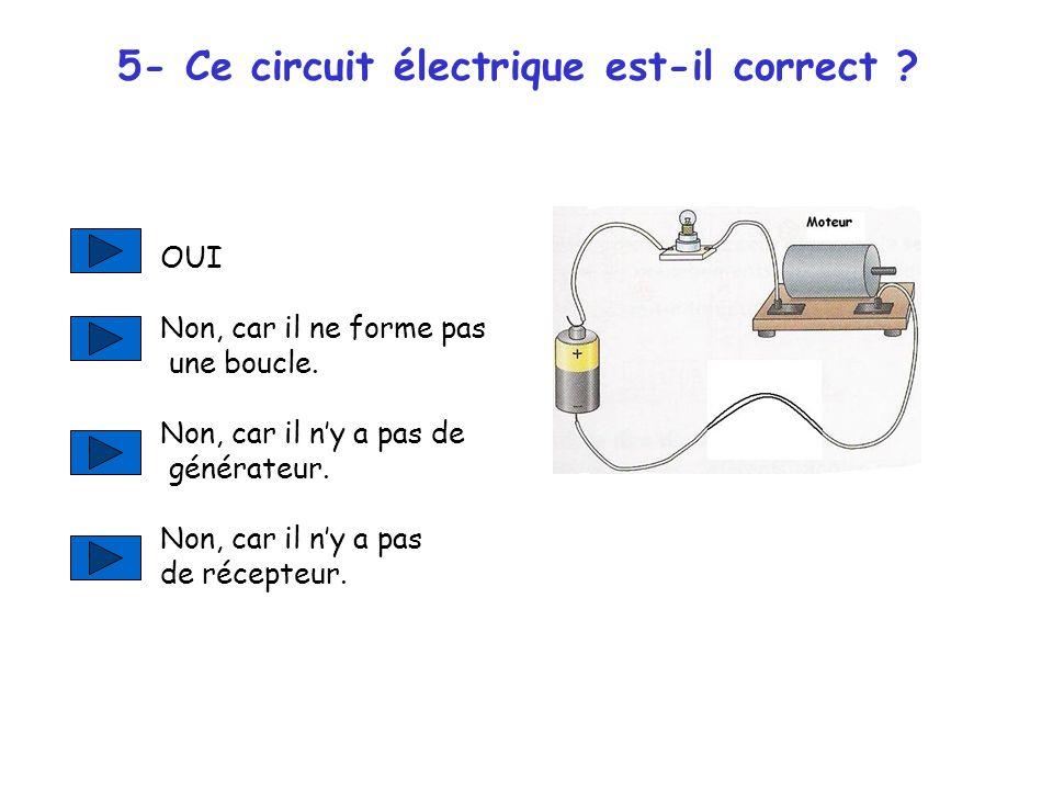 5- Ce circuit électrique est-il correct