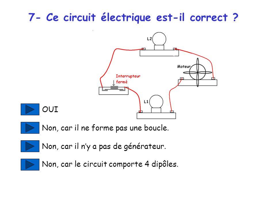 7- Ce circuit électrique est-il correct