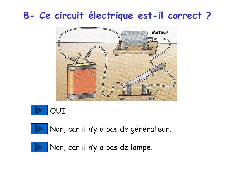 8- Ce circuit électrique est-il correct