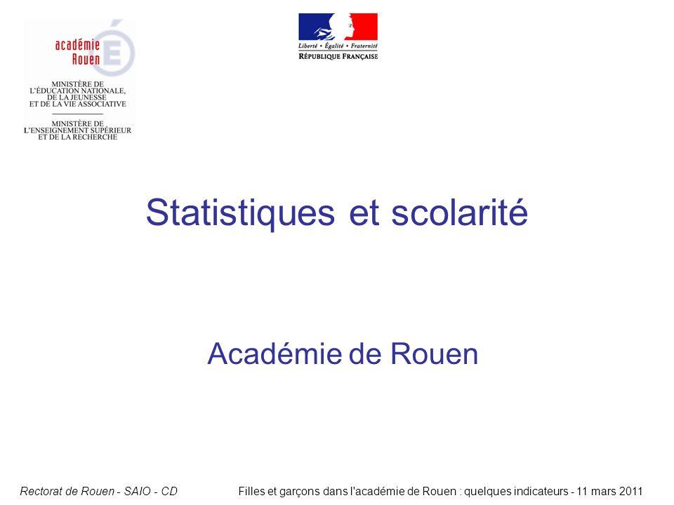 Statistiques et scolarité
