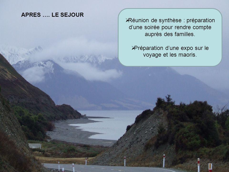 Préparation d'une expo sur le voyage et les maoris.
