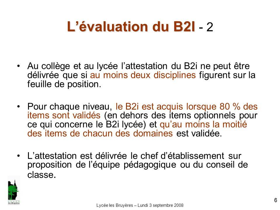 Lycée les Bruyères – Lundi 3 septembre 2008