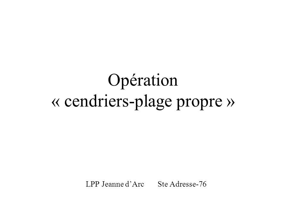 Opération « cendriers-plage propre »