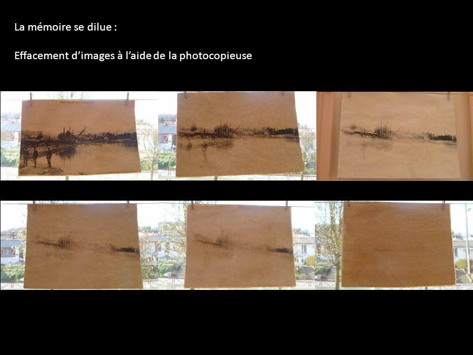 La mémoire se dilue : Effacement d'images à l'aide de la photocopieuse