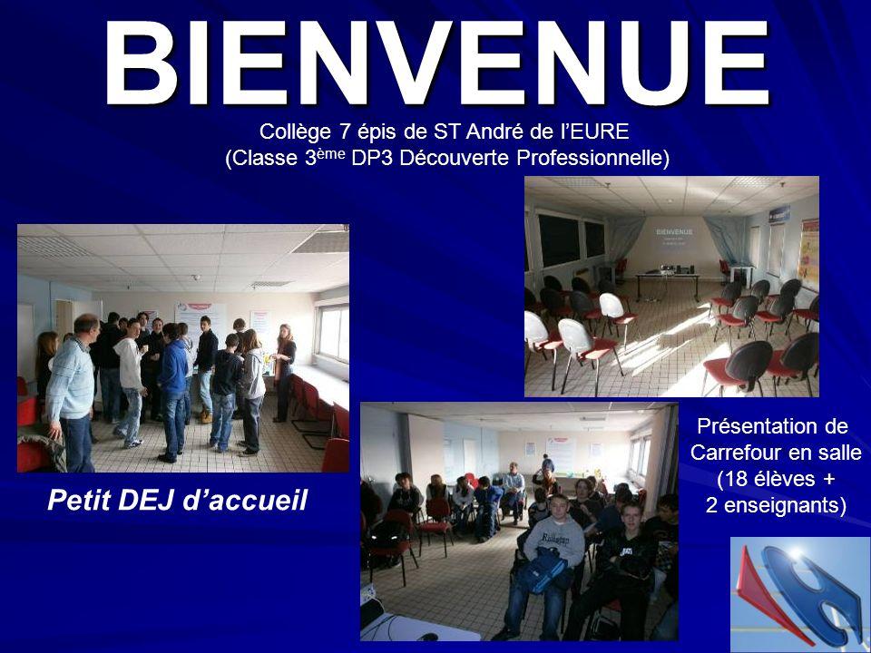 BIENVENUE Petit DEJ d'accueil Collège 7 épis de ST André de l'EURE