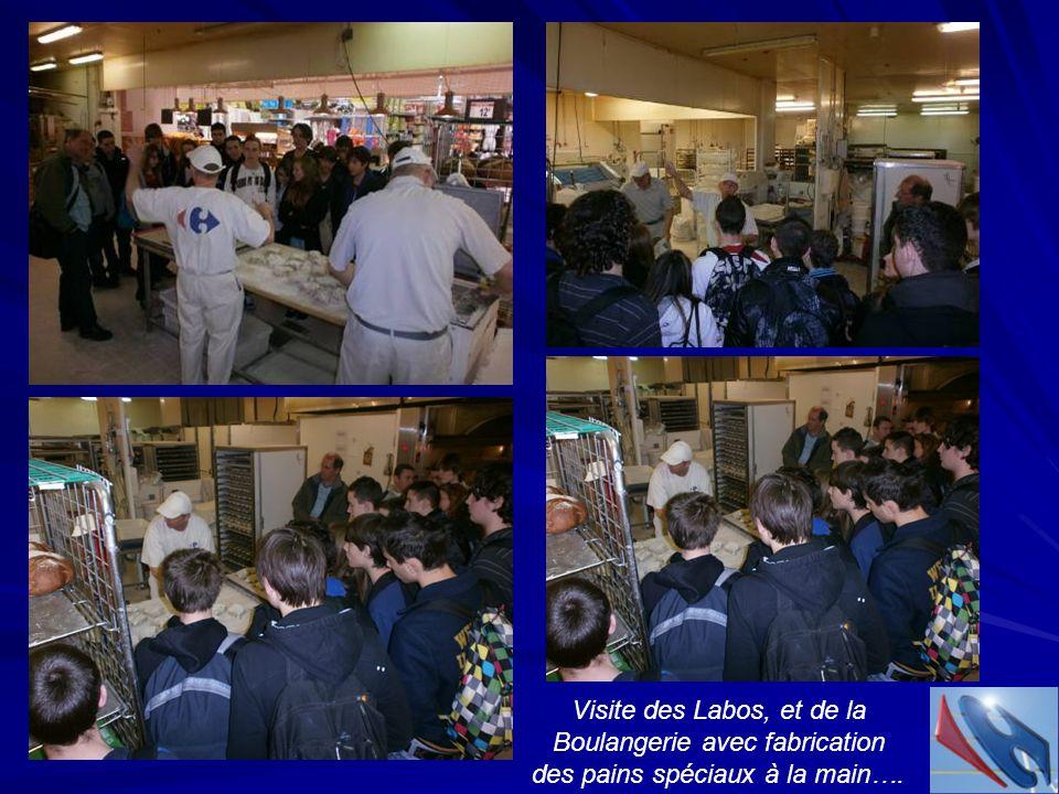 Visite des Labos, et de la Boulangerie avec fabrication
