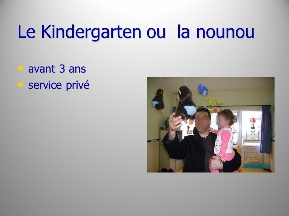 Le Kindergarten ou la nounou