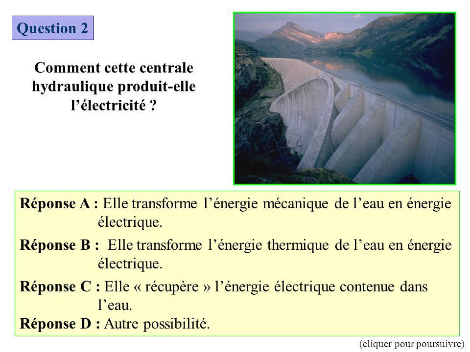 Comment cette centrale hydraulique produit-elle l'électricité