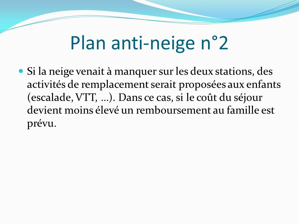 Plan anti-neige n°2