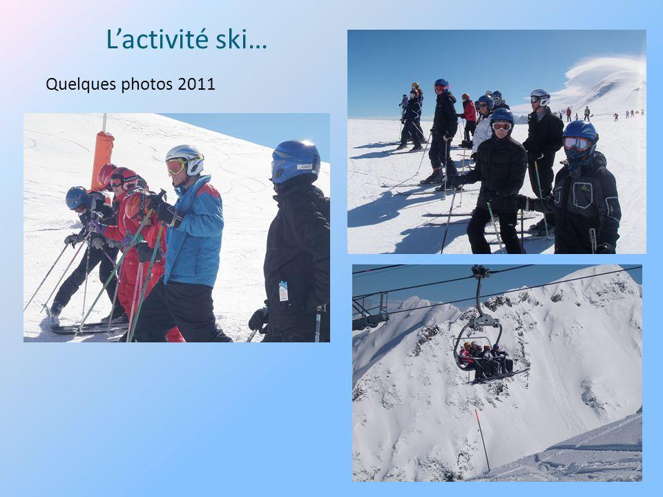 L'activité ski… Quelques photos 2011