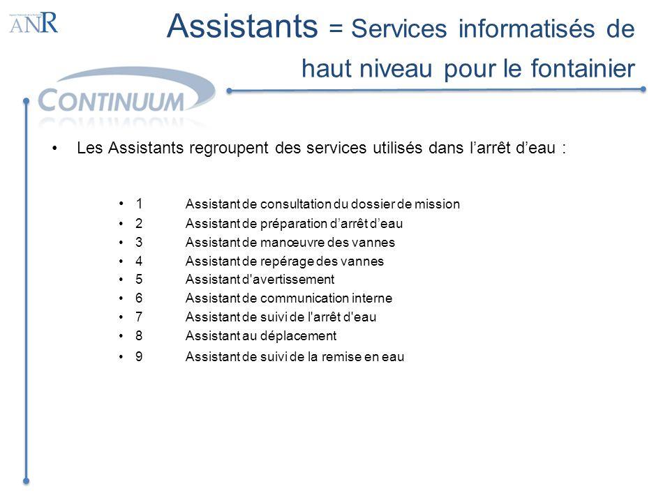 Assistants = Services informatisés de haut niveau pour le fontainier