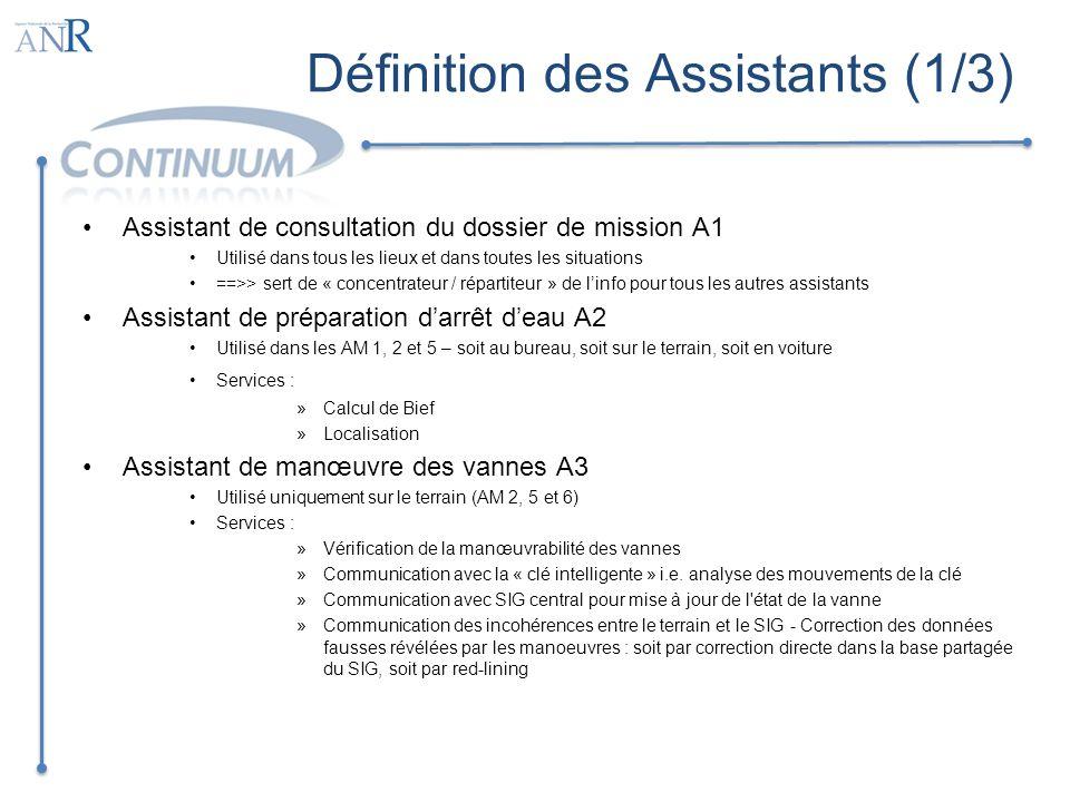 Définition des Assistants (1/3)