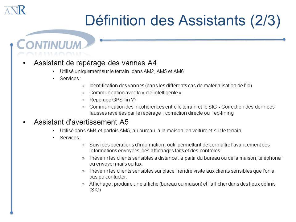 Définition des Assistants (2/3)