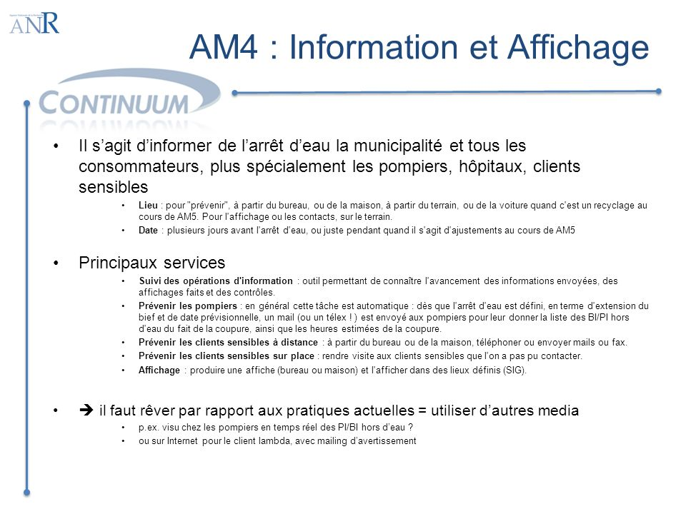 AM4 : Information et Affichage