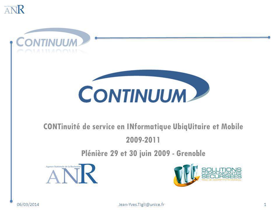 CONTinuité de service en INformatique UbiqUitaire et Mobile 2009-2011