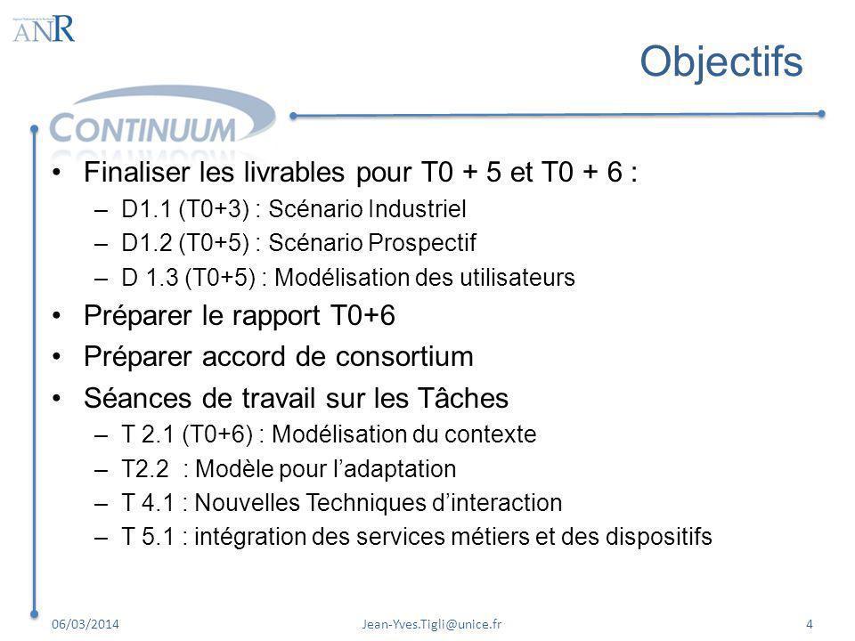 Objectifs Finaliser les livrables pour T0 + 5 et T0 + 6 :