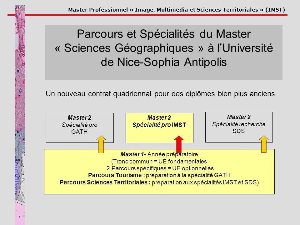 Parcours et Spécialités du Master « Sciences Géographiques » à l'Université de Nice-Sophia Antipolis