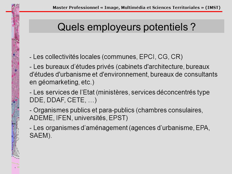 Quels employeurs potentiels