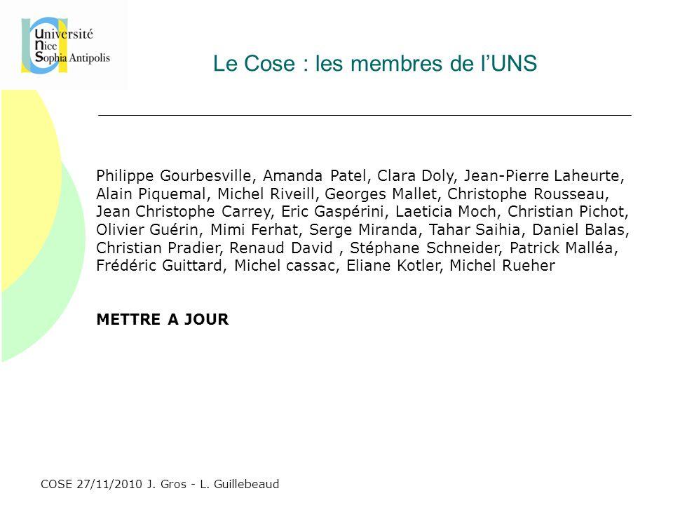 Le Cose : les membres de l'UNS