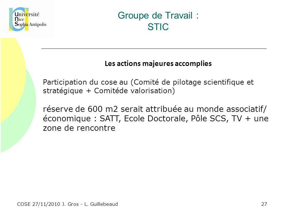 Groupe de Travail : STIC
