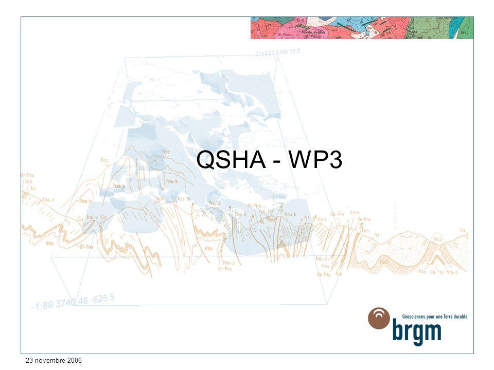 QSHA - WP3 23 novembre 2006