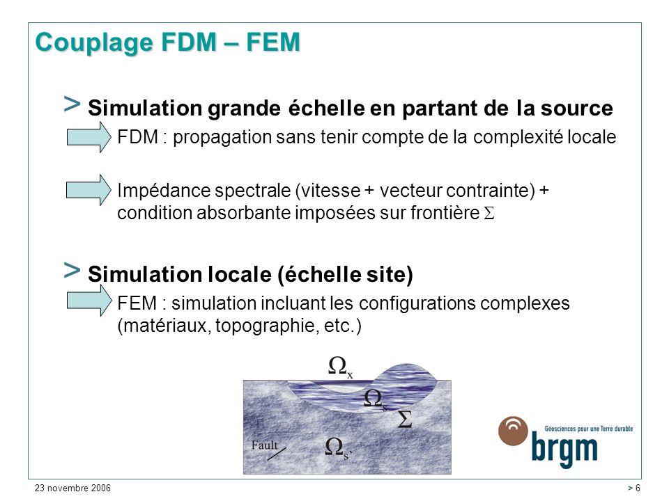 Couplage FDM – FEM Simulation grande échelle en partant de la source