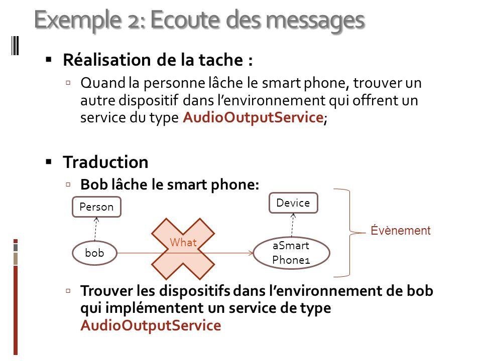 Exemple 2: Ecoute des messages