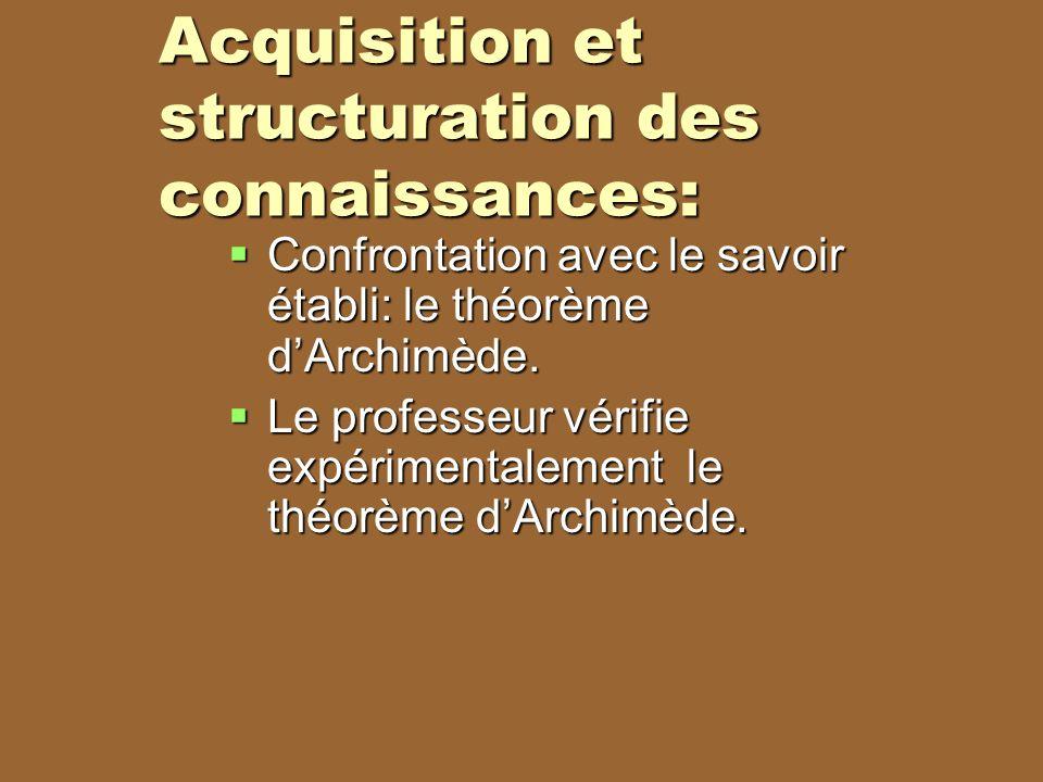 Acquisition et structuration des connaissances: