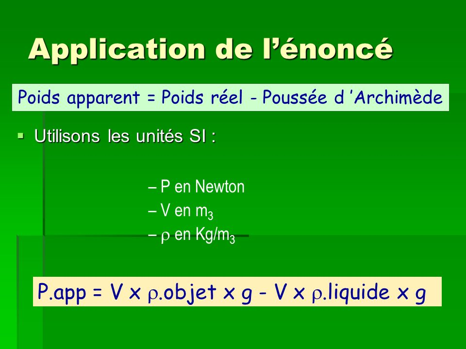 Application de l'énoncé