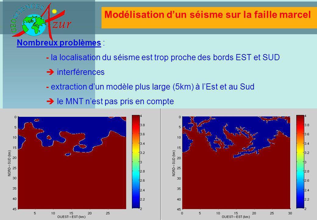 Modélisation d'un séisme sur la faille marcel