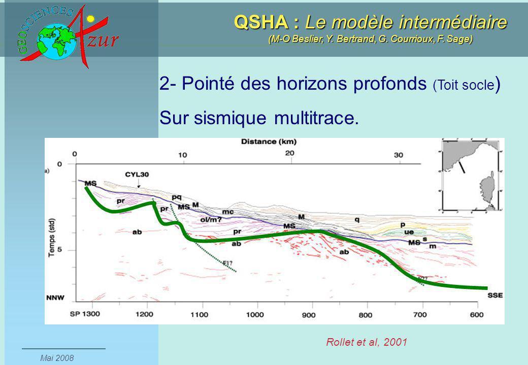 2- Pointé des horizons profonds (Toit socle) Sur sismique multitrace.