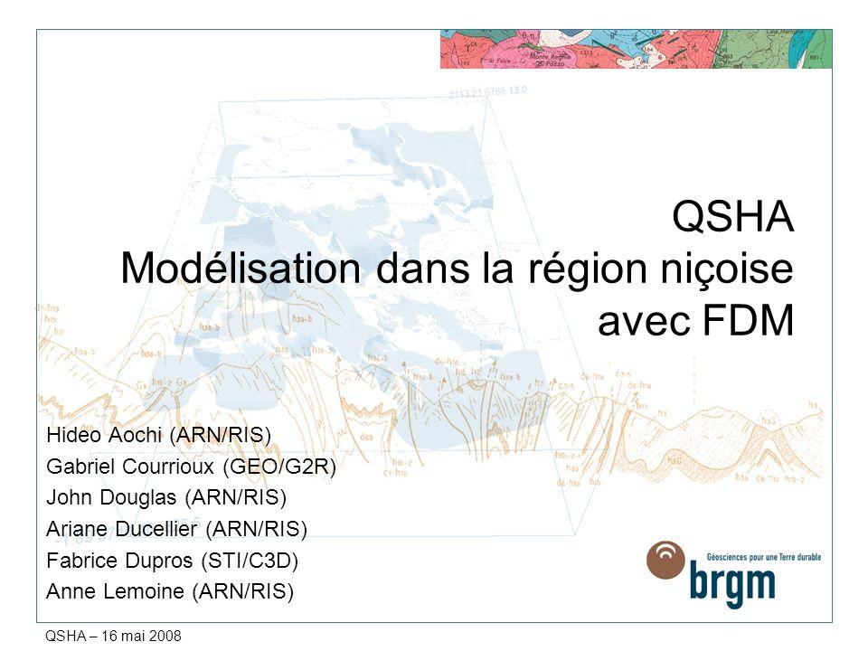 QSHA Modélisation dans la région niçoise avec FDM
