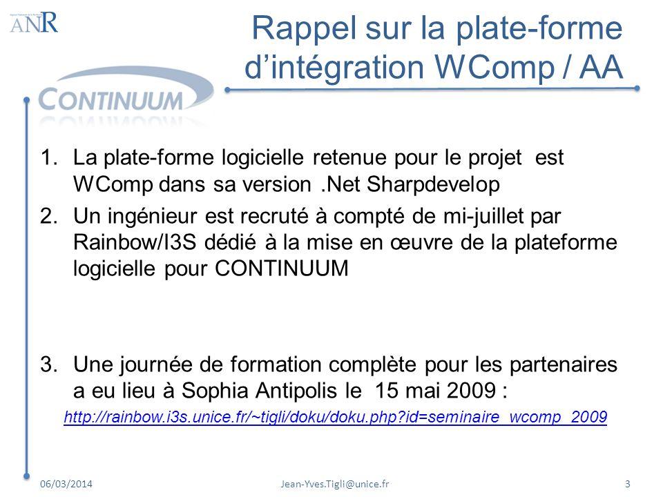 Rappel sur la plate-forme d'intégration WComp / AA