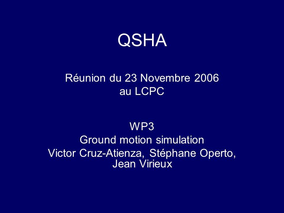 QSHA Réunion du 23 Novembre 2006 au LCPC