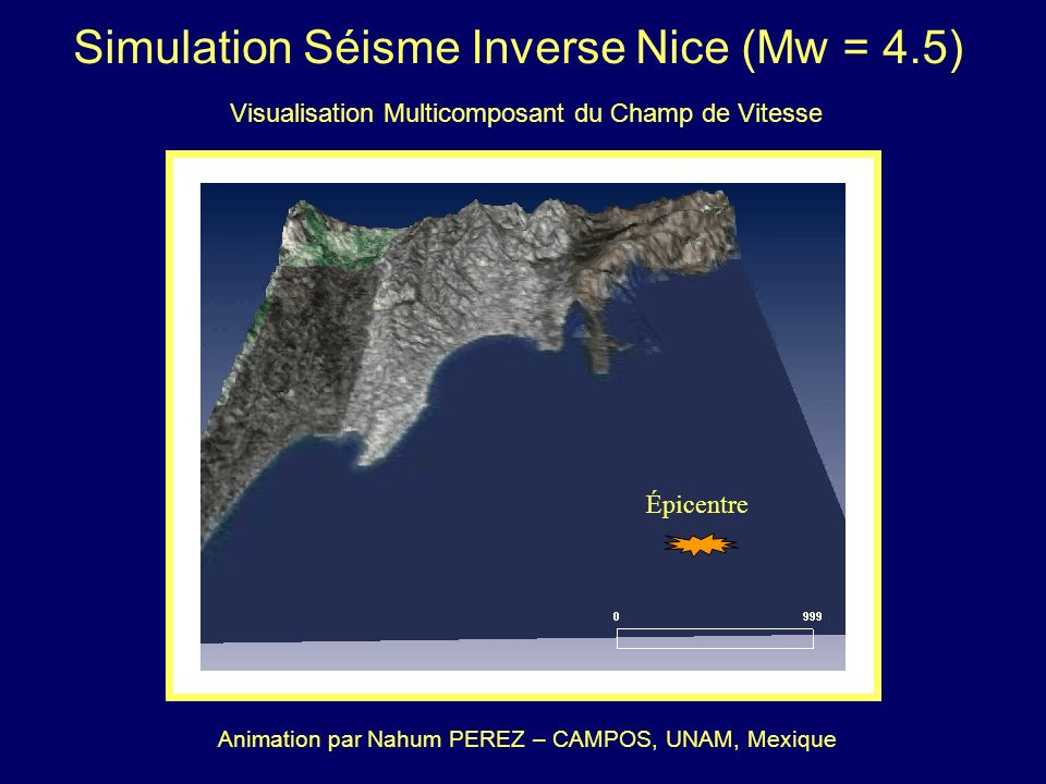 Simulation Séisme Inverse Nice (Mw = 4.5)