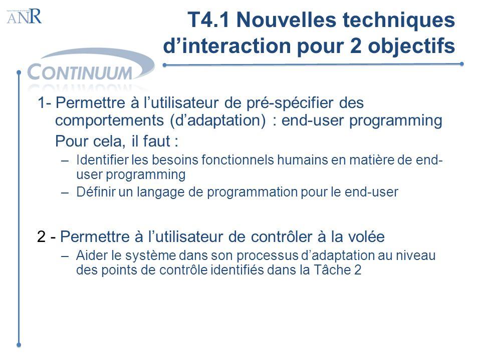 T4.1 Nouvelles techniques d'interaction pour 2 objectifs