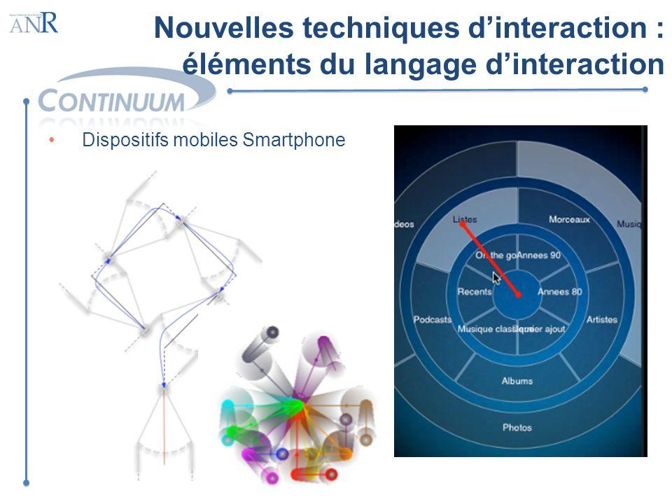Nouvelles techniques d'interaction : éléments du langage d'interaction