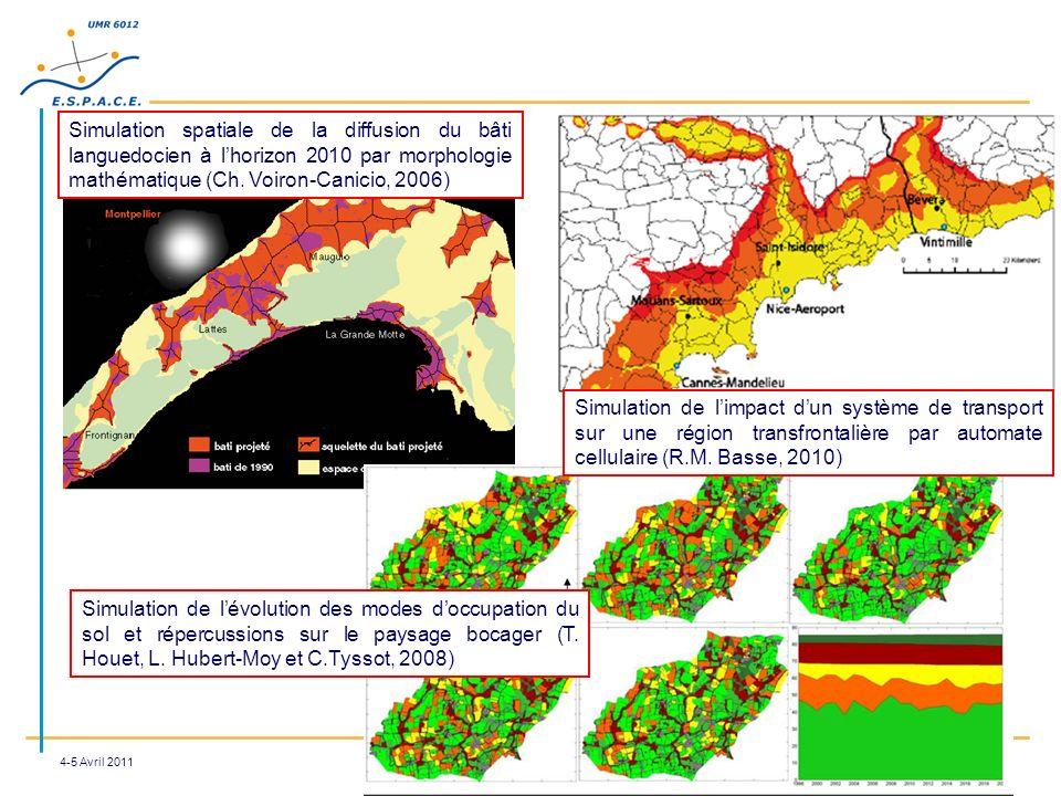 Simulation spatiale de la diffusion du bâti languedocien à l'horizon 2010 par morphologie mathématique (Ch. Voiron-Canicio, 2006)