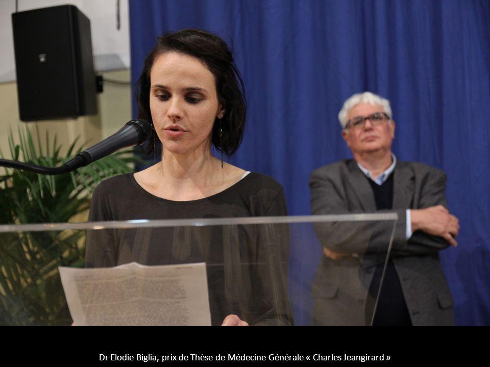 Dr Elodie Biglia, prix de Thèse de Médecine Générale « Charles Jeangirard »