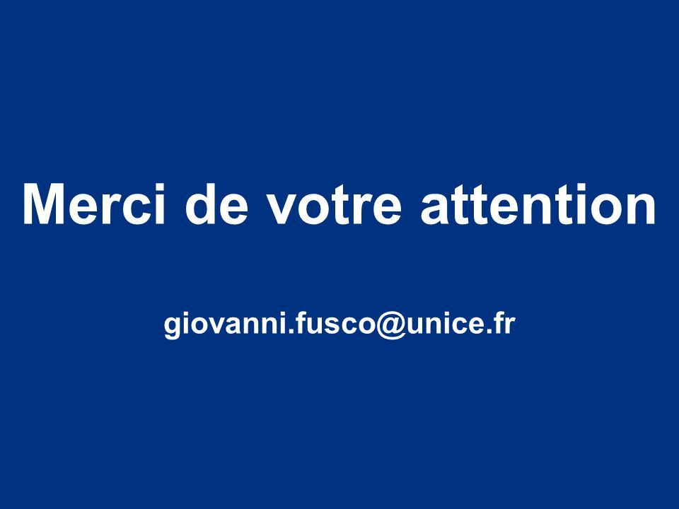 Merci de votre attention giovanni.fusco@unice.fr
