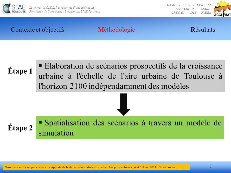 Spatialisation des scénarios à travers un modèle de simulation