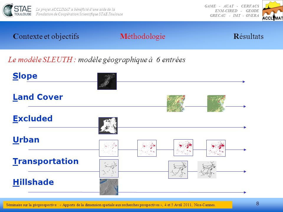 Le modèle SLEUTH : modèle géographique à 6 entrées