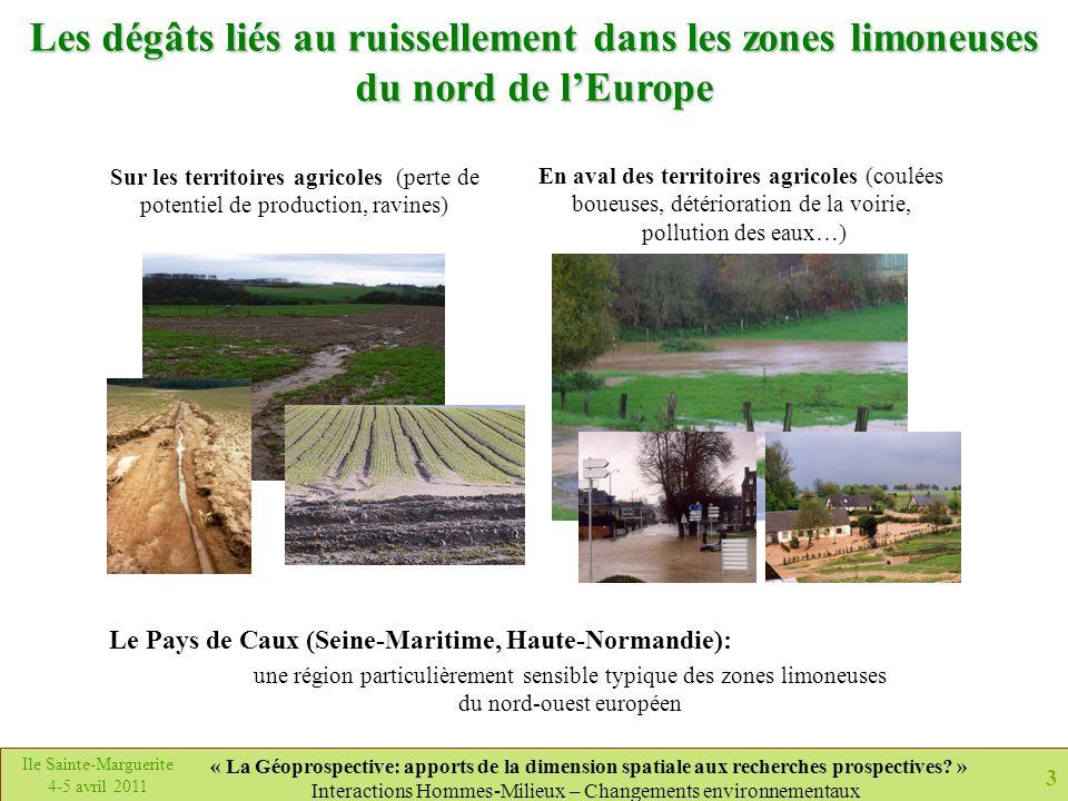 Les dégâts liés au ruissellement dans les zones limoneuses du nord de l'Europe