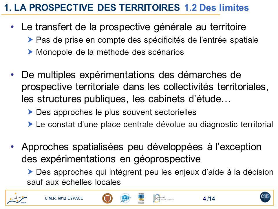 1. LA PROSPECTIVE DES TERRITOIRES 1.2 Des limites