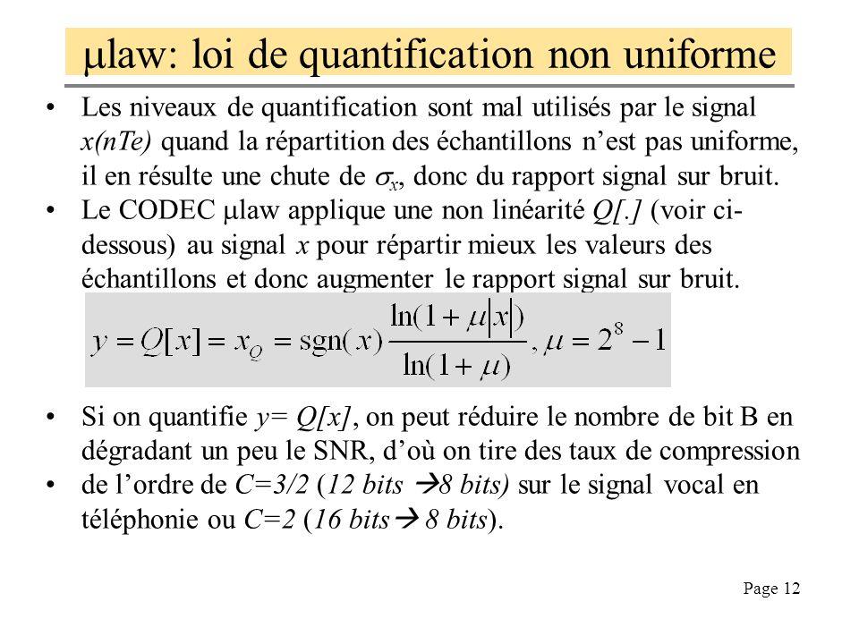mlaw: loi de quantification non uniforme