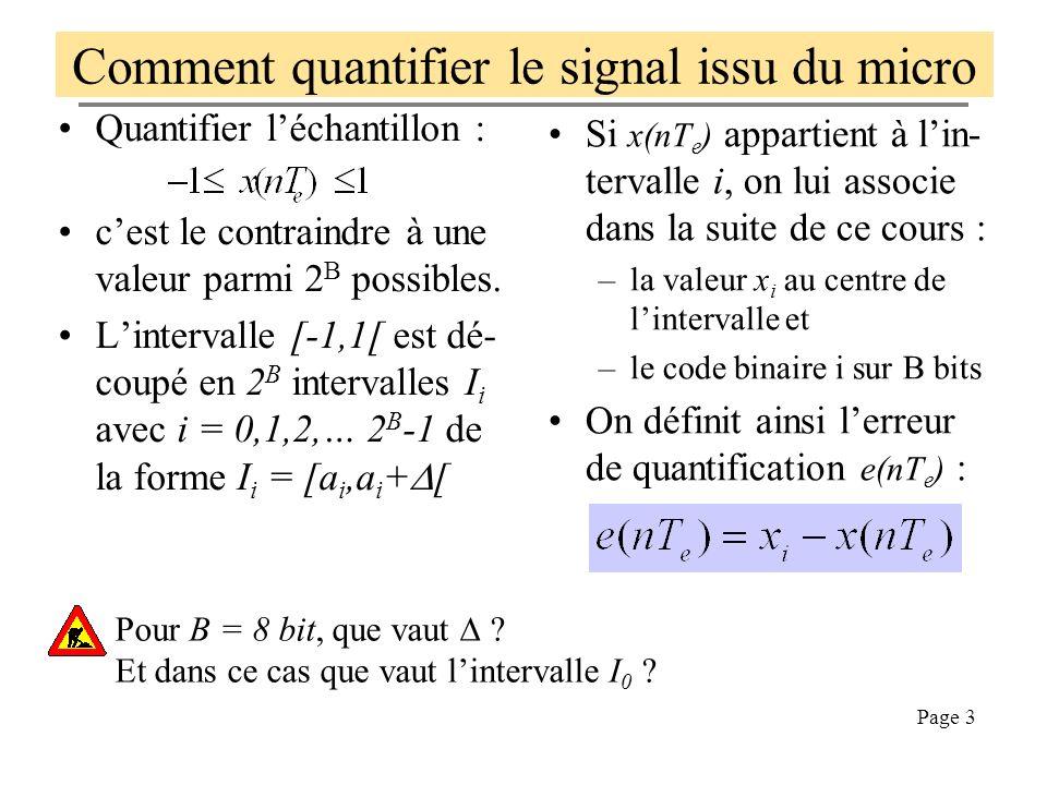 Comment quantifier le signal issu du micro