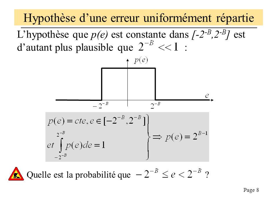 Hypothèse d'une erreur uniformément répartie