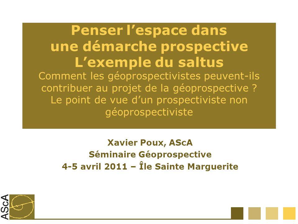 Séminaire Géoprospective 4-5 avril 2011 – Île Sainte Marguerite